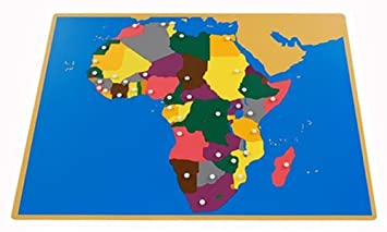 Amazon.com: Montessori Africa Puzzle Map with Labeled and Unlabeled ...
