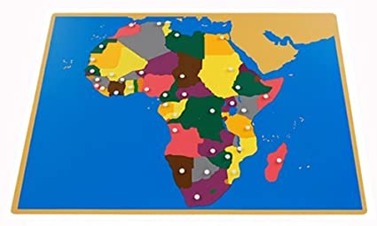 Amazon Com Montessori Africa Puzzle Map With Labeled And Unlabeled