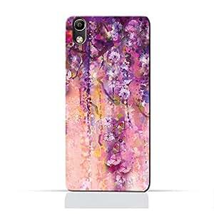 AMC Design ALCATEL Idol4 5.2TPU Silicone Protective Case with Artistic Purple Flowers Design