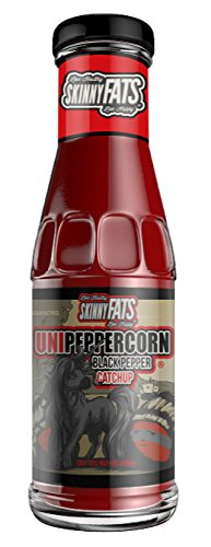 SkinnyFATS Unipeppercorn Catchup: Black Pepper Ketchup, All Natural, GMO Free, Gluten Free