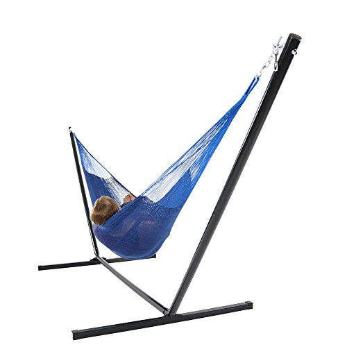 Sunnydaze Hand-Woven 2 Person Mayan Hammock with Stand, Doub