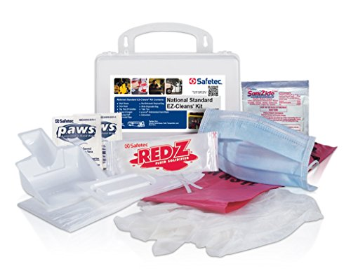 Safetec National Standard EZ-Cleans Kit (hard case) Body Fluid Spill Kit (12 kits / case) by Safetec