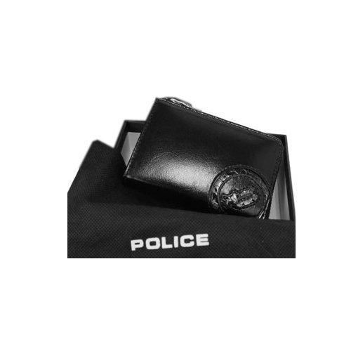 (ポリス) POLICE イタリアンレザーシリーズ ラウンドファスナー 小銭入れ 0515/PA-5509 B0098GTE9K  ブラック PA5509