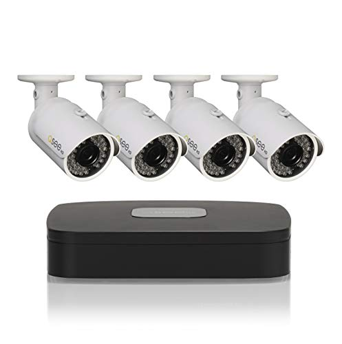Q-See Home Security System 8 Channel 1080P DVR with 500GB Hard Drive and (4) 1080P Bullet Cameras, Indoor/Outdoor, Night Vision, App, White (QC944-4Y6-5) 500 Gb Dvr System