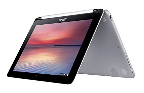 "ASUS C100PA-DB01 Chromebook Flip 10.1"" Touchscreen Laptop (Quad Core, 2GB, 16GB SSD) - Aluminum Chassis"