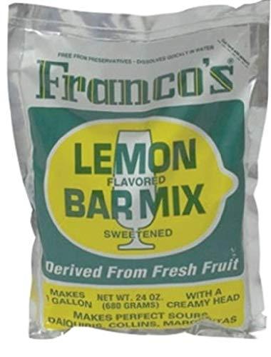 - Franco's Lemon Bar Mix, 24 Ounce Bag (Powdered Mix Makes One Gallon)