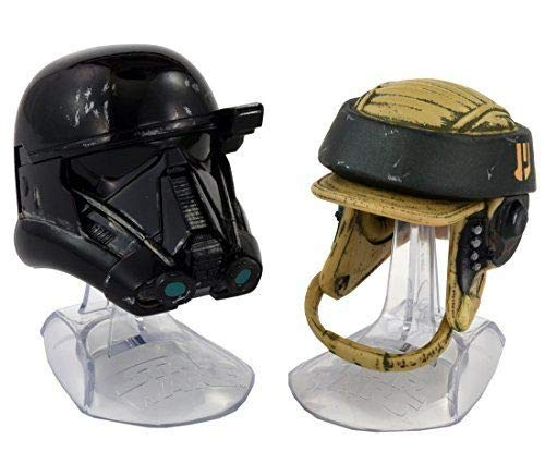 (Kids Toddlers HOT Seller (Bonus PEZ ) The Black Series Titanium Series Imperial Death Trooper and Rebel Commando Helmets Star Wars Bundle of 2 )