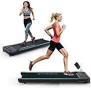 CITYSPORTS Treadmills for Home, Under Desk Treadmill Walking Pad Treadmill with Audio Speakers, Slim & Por