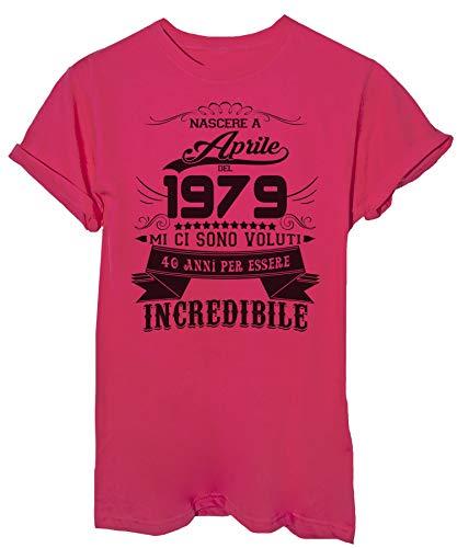 40 shirt Eventi Incredibile Nato Compleanno Aprile Fucsia Del Image 2019 Per Anni Essere Ad 1979 T HqznU