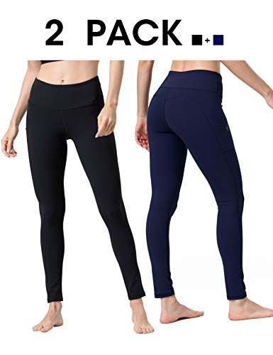 ALONG FIT Yoga Pants for Women with Pockets, Compression Workout Leggings Tummy Control