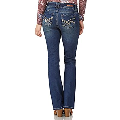 "WallFlower Women's Juniors Luscious Curvy Stretch Denim Bootcut Jeans (30""-32""-34"" Inseam): Clothing"