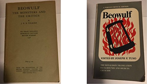 Beowulf: The Monsters and the Critics. Sir Israel Gollancz Memorial Lecture. Read 25 November 1936.