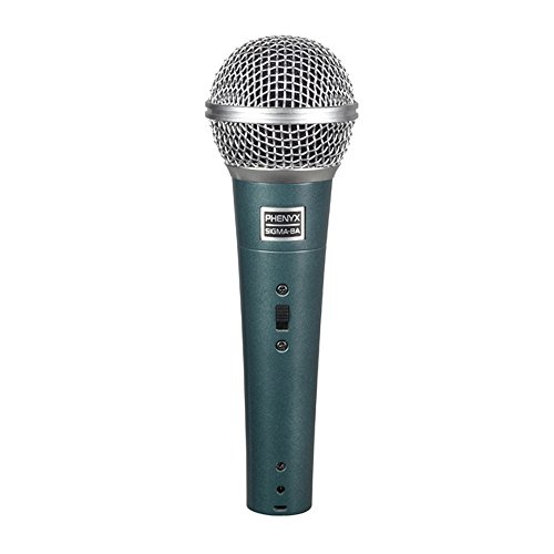 Complete Sound Reinforcement System - Phenyx Pro Wired Vocal Dynamic Handheld Microphone With XLR Cable, Windscreen, Ideal for Vocal, Studio, Instrument, Recording, Events (Sigma 8A)