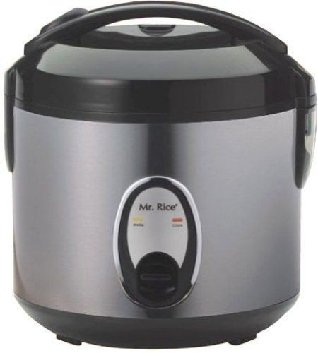 Sunpentown Home Indoor Kitchen 4-Cups Rice Cooker With Stain