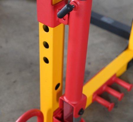 41CsZvUehCL - Powertec Fitness Barbell Landmine Storage Locking Hook | Storage Locking Hook | Barbell Landmine Attachment