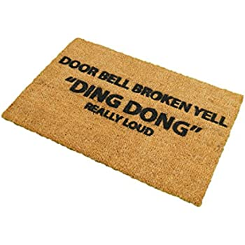 Amazon.com: Custom Machine-washable Door Mat Doorbell Broken Yell ...