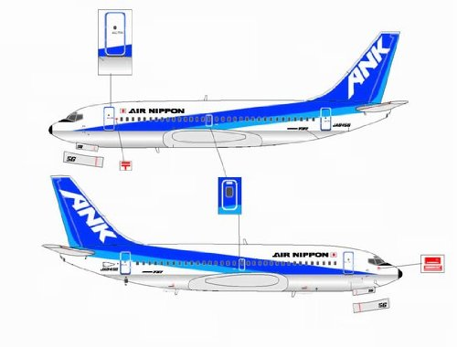 Jet-X ANK Air Nippon B737-200 JA8456 Model Airplane