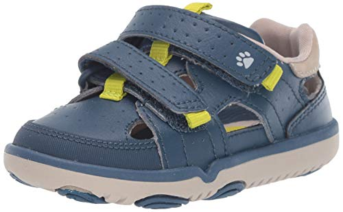 Hush Puppies Boys' Quin Sandal Navy 080 Wide US Toddler (Hush Sandals Puppies Kids)