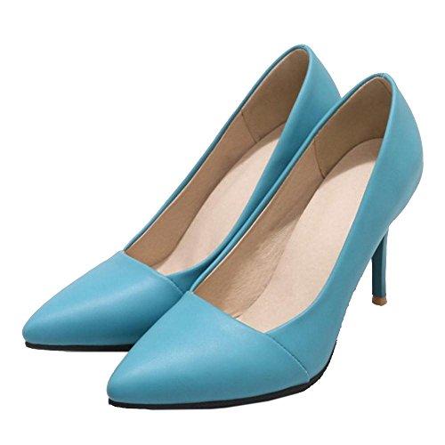 TAOFFEN Scivolare Scarpe Scarpe Lavoro con Donna su Blue Tacco rxwCrqFEY