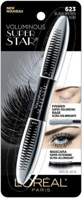 ONLY 1 IN PACK L'Oreal Voluminous Super Star Mascara, Washable, 623 Black