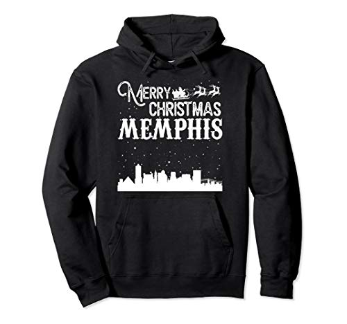 Merry Christmas Y'all Memphis City pullover hoodie