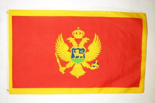 AZ FLAG Bandera de Montenegro 150x90cm - Bandera MONTENEGRINA 90 x 150 cm
