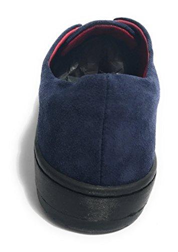 Col Aurora Blu Con D18au08 Scamiciata Fiocco Pelle Scarpe Donna Nero Scamosciata Sneaker wwOYax