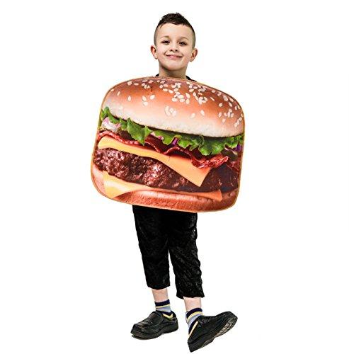 DSplay Kids Food Style Costume (Hamburger) -