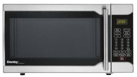 Danby Designer 0.7 Cubic Foot Microwave, Stainless Steel