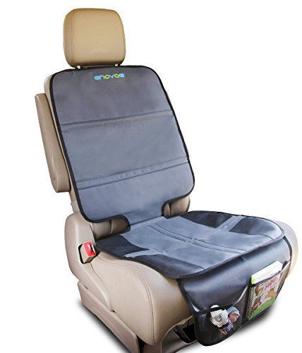 Enovoe Car Seat Protector - Universal Auto Seat Protectors Cover Helps Keep Your Infant, Baby, Toddler and Kids Car Seat in Place While Protecting Your Upholstery