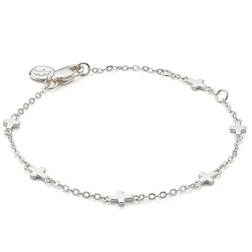 Molly B London | Girl's Holy Communion 925 Sterling Silver by The Inch Cross Bracelet ()