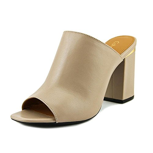 Calvin Klein Womens cicelle Open Toe Mules, Cocoon, Size 6.0