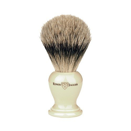 Edwin Jagger Medium Off-White Super Badger Shave Brush shave brush