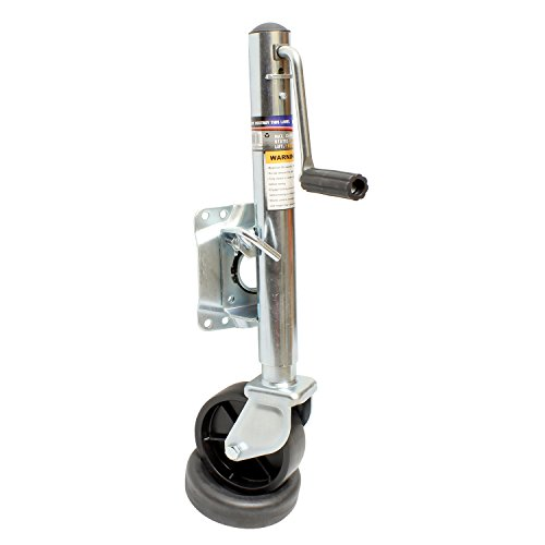 ABN Marine Trailer Jack with Wheel - Side Wind Trailer Jack 1,000 lbs Boat Trailer Jack & Single Trailer Tongue Wheel