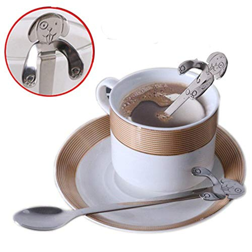 Xeminor Premium Stainless Steel Dog Coffee Spoon Tea Spoon Hanging Cup Spoon, 11.5cm silver by Xeminor (Image #4)