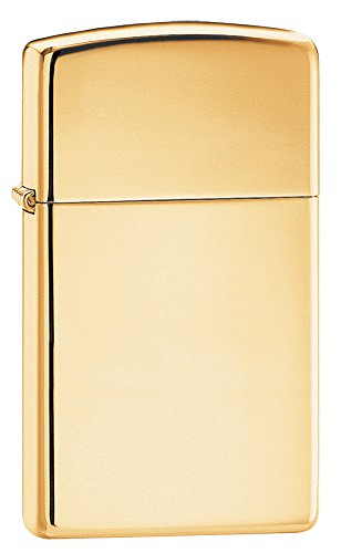 Price comparison product image Zippo Slim Pocket Lighter, High Polish Brass