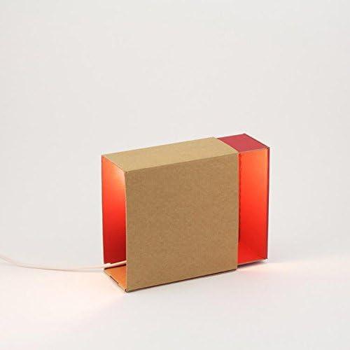 adónde?-Caja de luz-Lámpara de aplique, color rojo: Amazon.es: Iluminación