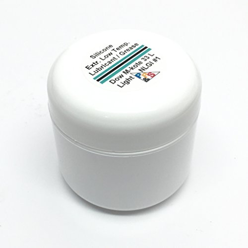 Dow Corning Molykote 33 Light Silicone Low Temperature Bearing Grease Lube, Light NLGI #1 Consistency Grade, 57g or 2oz