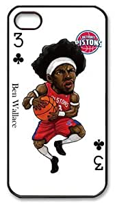 icasepersonalized Personalized Protective Case For Iphone 4/4S CoverBen Wallace, NBA Detroit Pistons