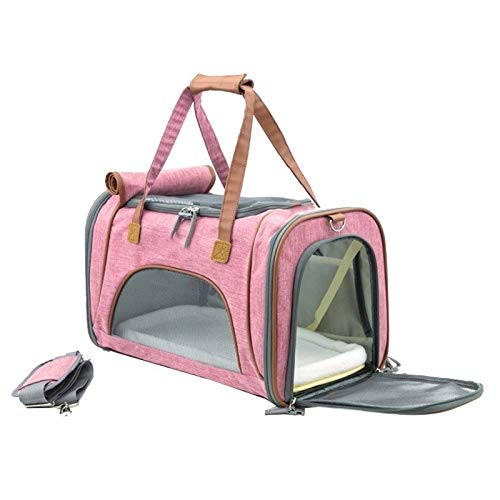 F3 ZAQXSW Pets out portable cat bag dog travel bag slung handbag cat cage Teddy take-on car shoulder bag (color   F3)