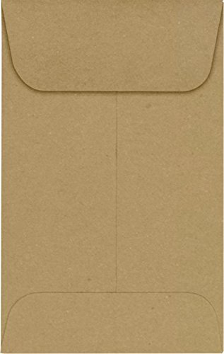 #1 Coin Envelopes (2 1/4 x 3 1/2) – Grocery Bag (1000 Qty.) | Perfect for the HOLIDAYS, Weddings, Parties & Place Cards | Fits Small Parts, Stamps, Jewelry, Seeds | 1COGB-1M