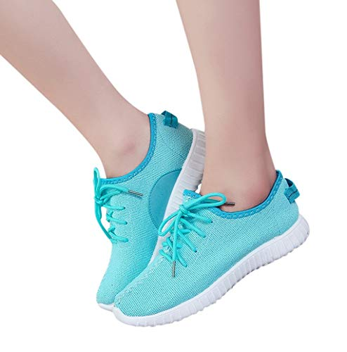 Photno Fashion Brand Best Show Women's Simple Mesh Breathable Sneakers Running Fitness Hiking Shoes Blue (Best Rc Brands 2019)
