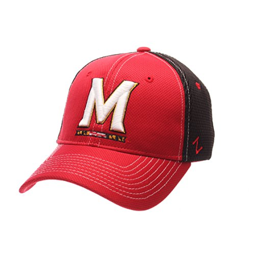Zephyr NCAA Maryland Terrapins Men's Rally Z-Fit Cap, X-Large, Red/Black (Zephyr Maryland Hat)