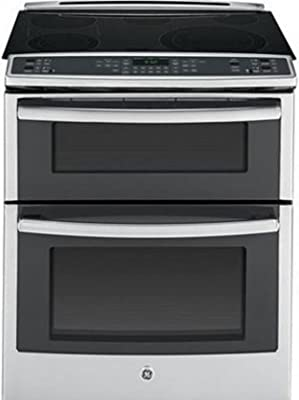 """GE PS950SFSS 30"""" 6.6 cu. ft. Capacity Slide-In Double Oven Electric Range In Stainless Steel"""