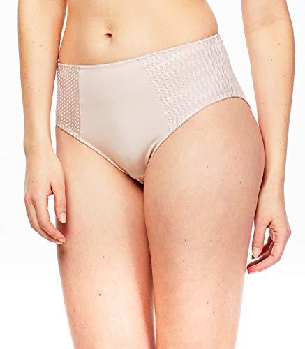 Carole Martin Women's Underwear Hipster Panties, Ultra Soft Microfiber Comfort Briefs Beige