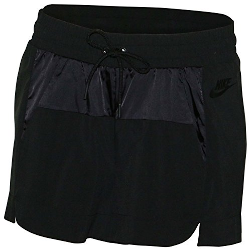 Nike Women's Sportswear Bonded Casual Shorts-Black-XL