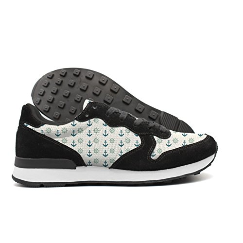 juiertj rt Mens Rudder Anchor Sailing Suede Low Top Comfortable Hunting Athletic Running Shoes