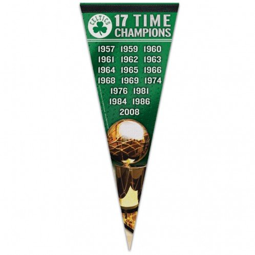 WinCraft NBA 60741081 Boston Celtics Premium Pennant, 12'' X 30''