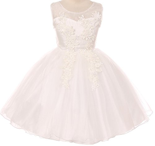 Ivory Embroidered Taffeta Dress - 9