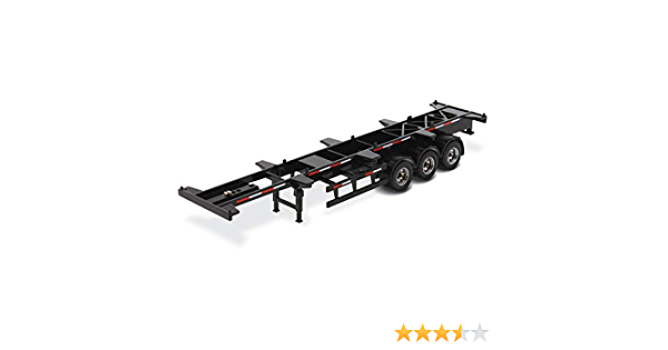 40/' Skeleton Trailer Black Transport Series 1//50 Diecast Model by Diecast 91024